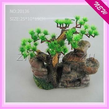Resin ornaments aquarium ornaments chinese looking arch for Artificial fish pond plants
