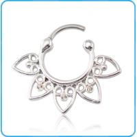 Cheap SR01166 Copper Septum Ring with Heart Pattern Around for sale