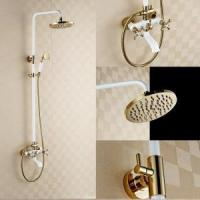 Cheap Luxury bathroom wall mounted brass hand shower set KD-50401 for sale