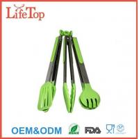 Cheap Silicone and Stainless Steel Flipper Tongs Salad Tong Food Tong for sale
