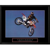 Cheap Motivational Confidence Motorbiker in Air Motivational for sale