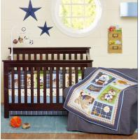 Cheap Luxury Quilted Newborn Baby Boy Crib Bedding Set Supplies, Dog And Bear Cartoon for sale