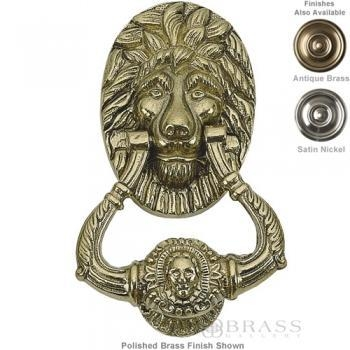 "Quality Brass Accents - 6-1/4"" Lion Door Knocker wholesale"