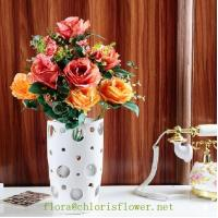 Cheap Faux Classic Lover's Rose 14 heads/50cm Flower sprays for sale