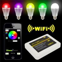 Cheap LED Panel Light Iphone IOS for Android Smart Phone + 9W RGBW LED Bulb for sale