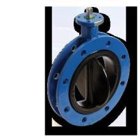 Cheap Rubber Seat Flange Butterfly Valve for sale