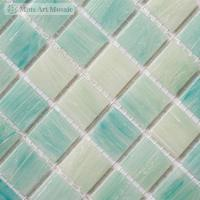 Cheap Light blue glass tiles for swimming pool SP020 for sale