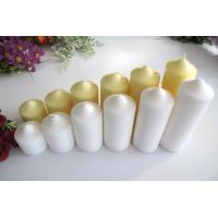 China Title:Unscented White Ivory Church Wedding Pillar Candle in bulk fo on sale