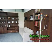 China Apartment / House Vetical Folding Wall Bed Enviromental E1 MDF 60mm Panel on sale