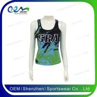 Buy cheap Green and blue cheer tank top from wholesalers