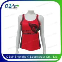 Buy cheap Red cheerleading tanl top from wholesalers