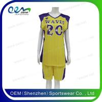 Buy cheap Yellow basketball top from wholesalers