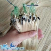 Cheap blond pure human 22 micro beads hair extensions for sale