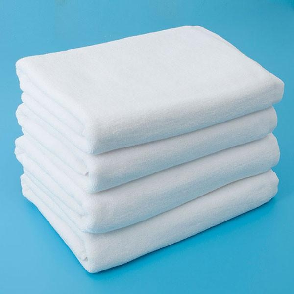 Bath Sheets Oversized: Oversized Cotton White Bath Towel Sheets With Certificate