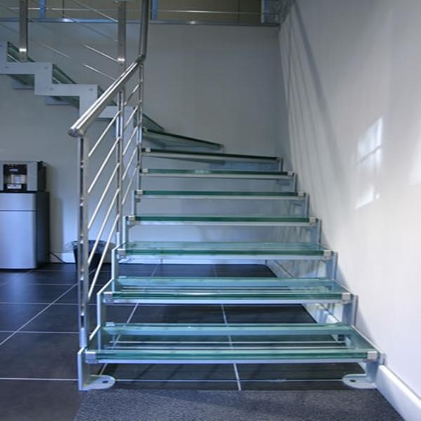 Indoor Prefabricated Glass Stairs Glass Staircase Prices