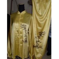Cheap Martial Arts Uniforms women uniform with hand painted bamboo f 2012824102314 for sale