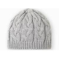 Cheap Gray Crochet Winter Hat Curling Pattern , Knitted Crochet Warm Hat For Girls for sale