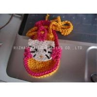 China Yellow Shoelace Knitted Baby Sandals Crochet Red Sweet Kitty Cat Shape Pattern on sale