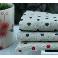 China Quick Dry Eco-Friendly Natural Vintage Linen Polka Dot Printed Tea Towel KL-016 on sale