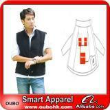 Cheap Apparel Fashion Waistcoat For Men Design with electric heating system heated clothing warm OUBOHK for sale