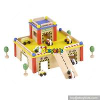 China Best design educational parking toys wooden funny toy garage for toddlers W04B043 on sale