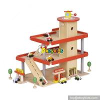 China New fashion boys funny parking toys wooden kids toy garage set W04B038 on sale