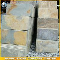 Cheap Blocks and Slabs Rusty Yellow Slate Tiles for sale
