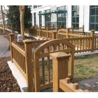 China Wooden fence | Wooden railings Antiseptic timber villa garden fence on sale