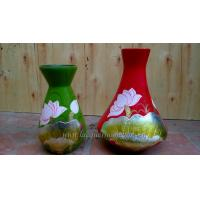 Cheap Bamboo Decor vases Vietnam bamboo lacquer decor vase with hand painting for sale
