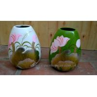 Cheap Bamboo Decor vases Lacquer for sale