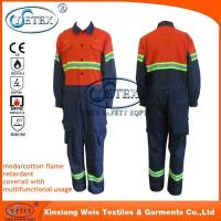 China Safety workwear Chemical treated durable fire retardant fire proof overalls workwear on sale