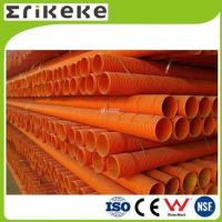 Cheap PVC pipe and fittings pvc orange colored corrugated plastic pipe for sale