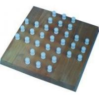 Cheap Wooden solitaire board game / chess game set / wooden chess pieces for sale