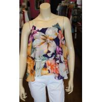 Cheap Floral Print Layered Top for sale
