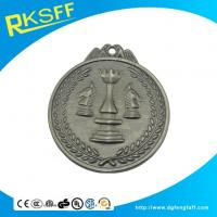 Cheap Zinc Alloy Chess Silver Medals for sale
