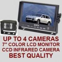 """Cheap 7"""" COLOR REAR VIEW BACKUP CAMERA SYSTEM - Digital Flat LCD and CCD Camera for sale"""
