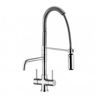 3 Way Water Filter Tap Kitchen Sink Faucet With Spring Hose Item No KF1309