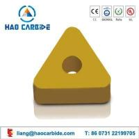 carbide turning insert with high feed
