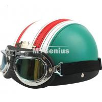 China Vintage Style Open Face Half Motorcycle Helmet & Goggles & Visor on sale