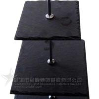Cheap Slate cake serving tray 3 tires of black slate cake tray for sale