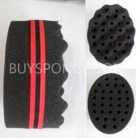 Cheap Double Barber Hair Brush Sponge For Dreads Locking Twist Coil Afro Curl Wave for sale