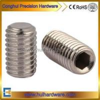 China DIN913 Stainless Steel Set Screws With Flat Point on sale