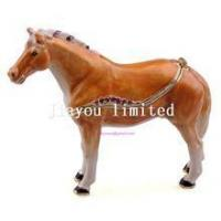Cheap TBP0014Y-horse trinket jewelry box horse figurine statue metal home decor for sale