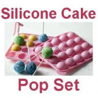 Cheap 20 Free Sticks Silicone Cake Chocolate Lollipops Tray for sale