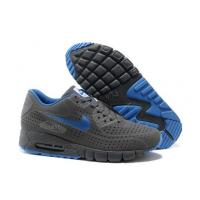 China Light Weight Nike Air Max 90 Current Moire Men Shoes Grey Blue on sale