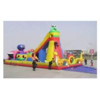 Cheap Inflatable fun city with rock climbing for sale