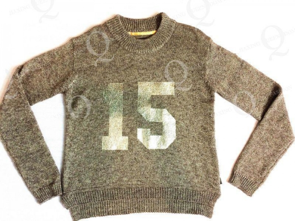 Quality FLAT KNIT Ladies' knitted pullover sweater wholesale