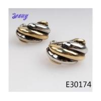 Cheap Stainless steel silver gold stud funny earrings earring E30174 for sale
