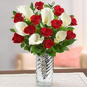 China Stunning Red Rose & Calla Lily NO.57 delivery flower to taiwan