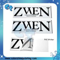 Cheap Pvc transparent clear adhesive stickers for sale